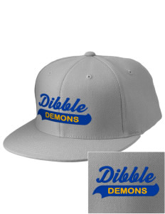 Dibble Senior High School Demons Embroidered Diamond Series Fitted Cap