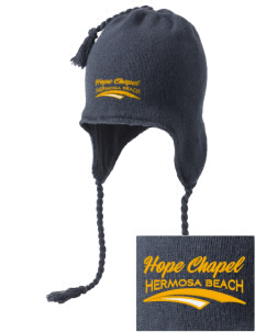 Hope Chapel Academy Hermosa Beach Embroidered Knit Hat with Earflaps