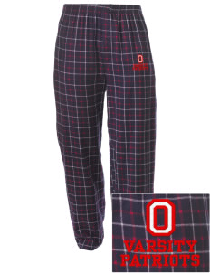 Oxford Academy Patriots Embroidered Men's Button-Fly Collegiate Flannel Pant