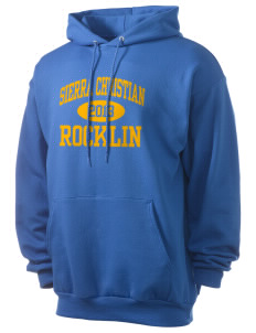 Sierra Christian School Rocklin Men's 7.8 oz Lightweight Hooded Sweatshirt