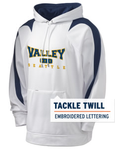 Valley School Seattle Holloway Men's Sports Fleece Hooded Sweatshirt with Tackle Twill