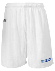 "James Urbani Institute For Language Dev Stockton  Russell Men's Mesh Shorts, 7"" Inseam"