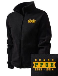 Pikes Peak School of Expeditionary Learn Bears Embroidered Women's Fleece Full-Zip Jacket