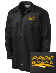 Pikes Peak School of Expeditionary Learn Bears Embroidered Dickies Men's Long-Sleeve Workshirt