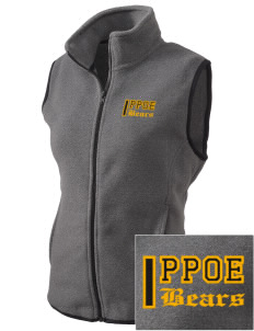 Pikes Peak School of Expeditionary Learn Bears Embroidered Women's Fleece Vest