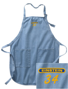 Einstein Elementary School Einstein Elementary Embroidered Full-Length Apron with Pockets
