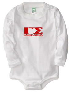 Gamma Sigma  Baby Long Sleeve 1-Piece with Shoulder Snaps