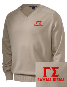 Gamma Sigma Embroidered Men's V-Neck Sweater
