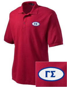 Gamma Sigma Embroidered Tall Men's Silk Touch Polo