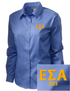 Epsilon Sigma Alpha  Embroidered Women's Long Sleeve Non-Iron Twill Shirt