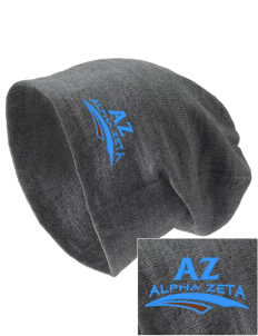 Alpha Zeta Embroidered Slouch Beanie