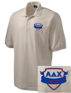 Alpha Delta Chi Embroidered Nike Men's Pique Knit Golf Polo
