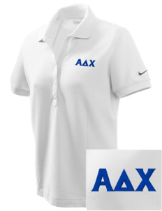 Alpha Delta Chi Embroidered Nike Women's Pique Golf Polo