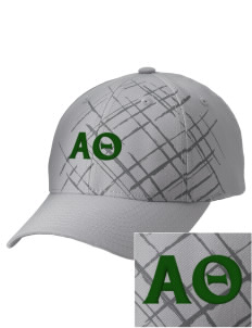 Alpha Theta Embroidered Mixed Media Cap