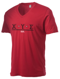 Chi Upsilon Sigma Alternative Men's 3.7 oz Basic V-Neck T-Shirt