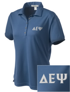 Delta Epsilon Psi  Embroidered Women's Bamboo Charcoal Birdseye Jacquard Polo