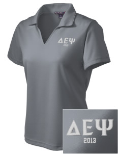 Delta Epsilon Psi Embroidered Women's Dri Mesh Polo