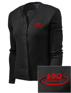 Delta Phi Omega Embroidered Women's Cardigan Sweater