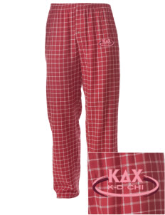 Kappa Delta Chi Embroidered Men's Button-Fly Collegiate Flannel Pant