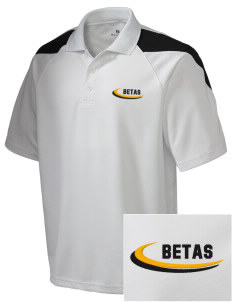 Omega Phi Beta Embroidered Holloway Men's Frequency Performance Pique Polo