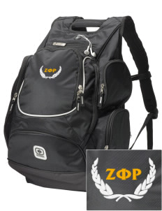 Zeta Phi Rho  Embroidered OGIO Bounty Hunter Backpack
