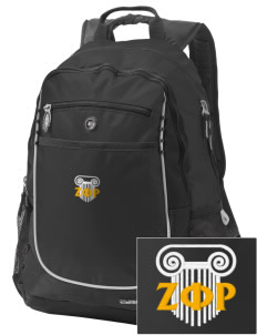 Zeta Phi Rho Embroidered OGIO Carbon Backpack