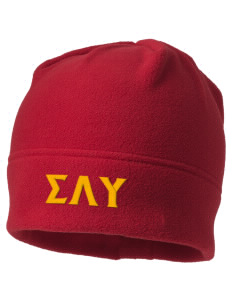 Sigma Lambda Upsilon Embroidered Fleece Beanie