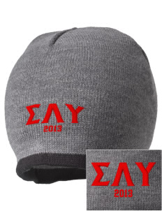 Sigma Lambda Upsilon Embroidered Beanie