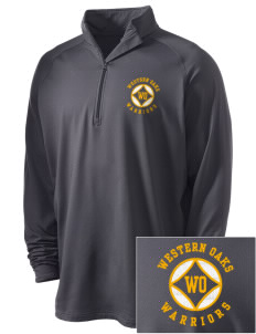Western Oaks Elementary School Warriors Embroidered Men's Stretched Half Zip Pullover