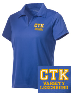 Christ the King Leechburg Embroidered Women's Double Mesh Polo
