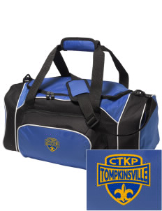 Christ The King Parish Tompkinsville Embroidered Holloway Duffel Bag