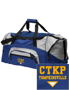 Christ The King Parish Tompkinsville Embroidered Colorblock Duffel Bag