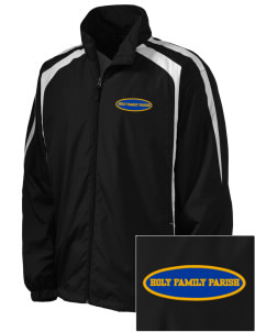Holy Family Parish Taft Embroidered Men's Colorblock Raglan Jacket