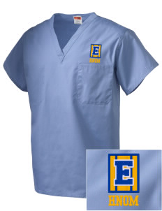 Holy Name of Mary Parish East Pembroke Embroidered V-Neck Scrub Top