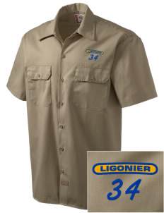 Holy Trinity Parish Ligonier Embroidered Dickies Men's Short-Sleeve Workshirt