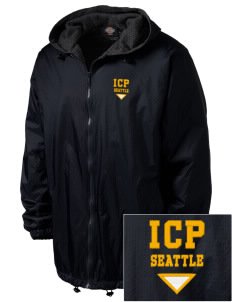 Immaculate Conception Parish Seattle Embroidered Dickies Men's Fleece-Lined Hooded Jacket