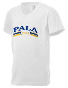 Mission San Antonio de Pala Pala Kid's V-Neck Jersey T-Shirt