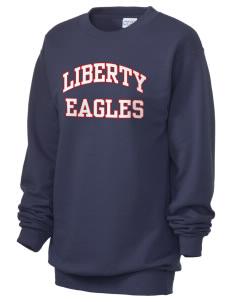 Liberty Elementary School Eagles Unisex 7.8 oz Lightweight Crewneck Sweatshirt