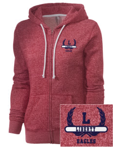 Liberty Elementary School Eagles Embroidered Women's Marled Full-Zip Hooded Sweatshirt