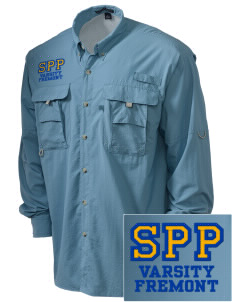 Santa Paula Parish Fremont Embroidered Men's Explorer Shirt with Pockets