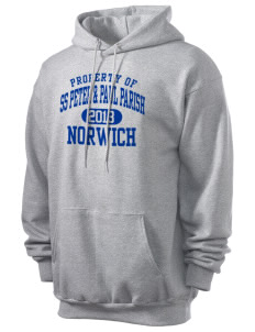 SS Peter & Paul Parish Norwich Men's 7.8 oz Lightweight Hooded Sweatshirt