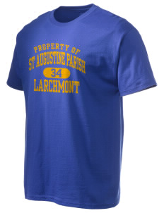 St Augustine Parish Larchmont Hanes Men's 6 oz Tagless T-shirt