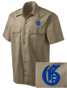 St Christopher Parish Galt Embroidered Dickies Men's Short-Sleeve Workshirt