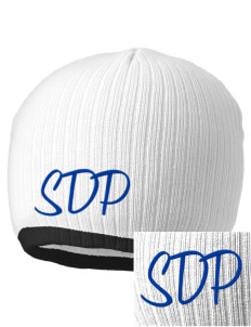 St Dominic Parish Orland Embroidered Champion Striped Knit Beanie