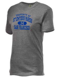 St Emydius Parish San Francisco Alternative Unisex Eco Heather T-Shirt