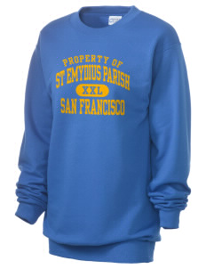 St Emydius Parish San Francisco Unisex 7.8 oz Lightweight Crewneck Sweatshirt