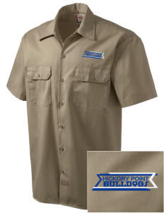 Hickory Point Elementary School Bulldogs Embroidered Dickies Men's Short-Sleeve Workshirt