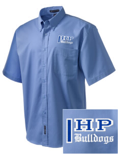 Hickory Point Elementary School Bulldogs Embroidered Men's Easy Care Shirt