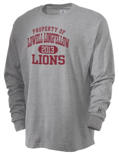 Lowell Longfellow Elementary School Lions  Russell Men's Long Sleeve T-Shirt