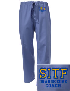 St Isadore The Farmer Parish Orange Cove Embroidered Scrub Pants
